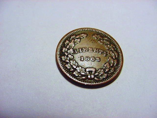 1863 UNION FOR EVER CIVIL WAR TOKEN