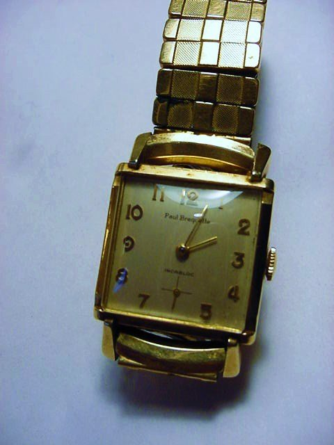 PAUL BREQUETTE  GOLD FILLED WATCH WORKS