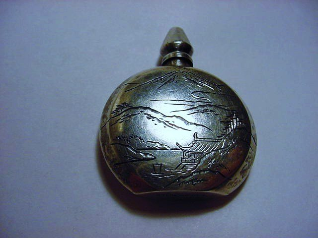 JAPANESE 950 STERLING PERFUME BOTTLE