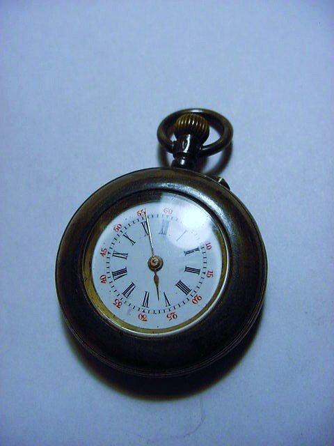 ANTIQUE 935 STERLING POCKET WATCH WORKS