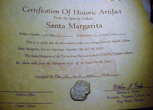1622 SANTA MARGARITA SILVER SHIPWRECK COB