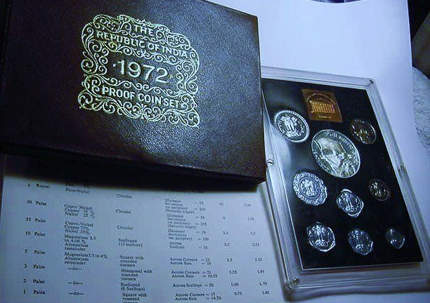 1972 INDIA GEM PROOF SET