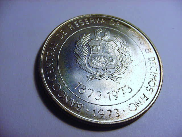1973 PERU 100 SOLES GEM B.U.