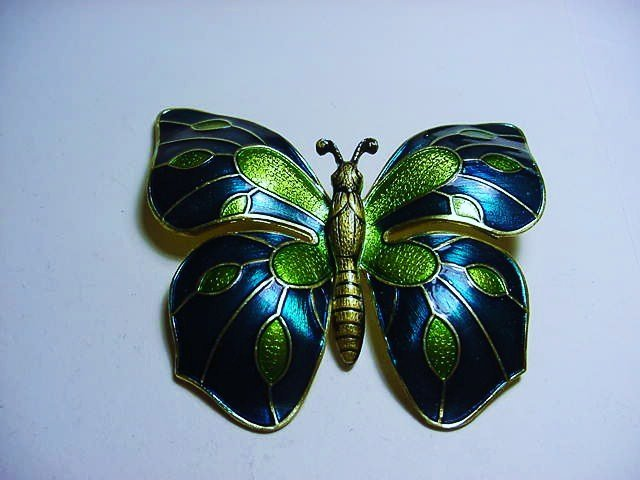 VINTAGE WEST GERMANY ENAMEL BUTTERFLY PIN