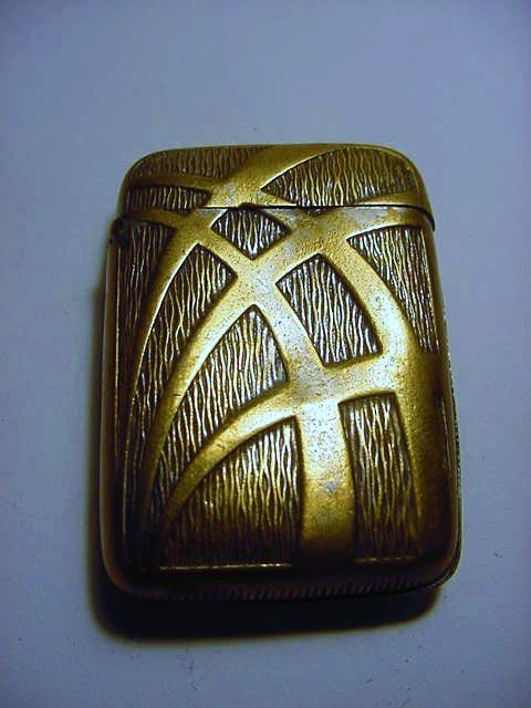 ART DECO MATCH SAFE