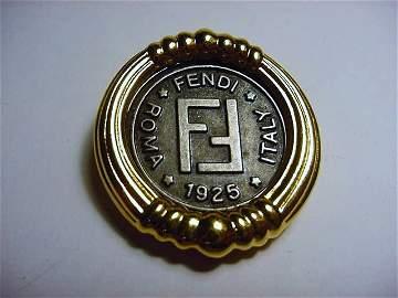 VINTAGE FENDI 1925 COIN PIN
