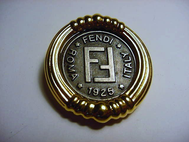 VINTAGE FENDI 1925 COIN PIN