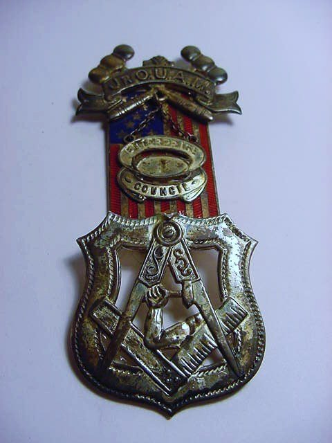 JR. ORDER OF UNITED AMERICAN MECHANICS STERLING ENAMEL