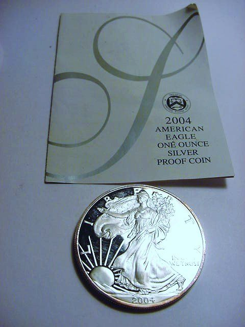 2004 AMERICAN EAGLE PUE SILVER COIN PROOF