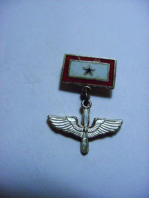 WWII ARMY AIRCORP STERLING SWEETHEART PIN