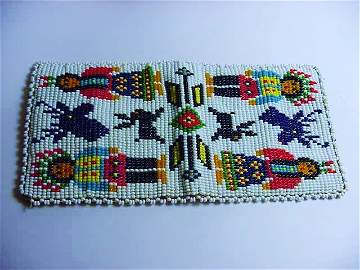 INDIAN BEADED WALLET