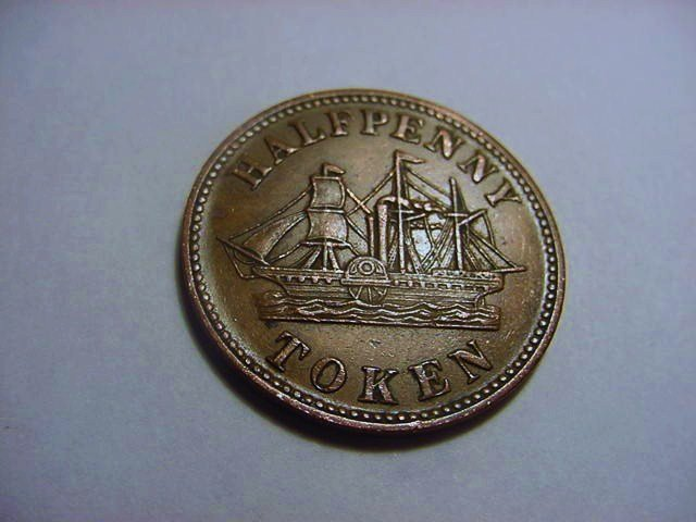 1858 PRINCE EDWARD ISLAND FISHERIES & AGRICULTURE HALF