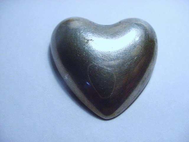 REED & BARTON STERLING HEART PIN