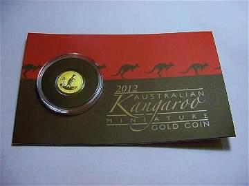 2012 AUSTRALIAN MINI ROO GOLD COIN