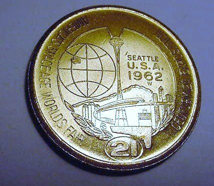 1962 SEATTLE WORLDS FAIR DOLLAR UNC