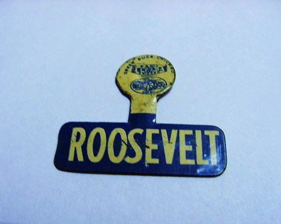 PRESIDENT ROOSEVELT CAMPAIGN BUTTON