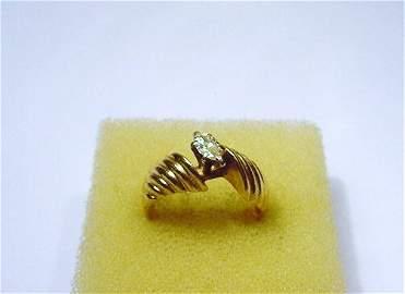 14K GOLD MARQUIS CUT .35 CARAT DIAMOND RING