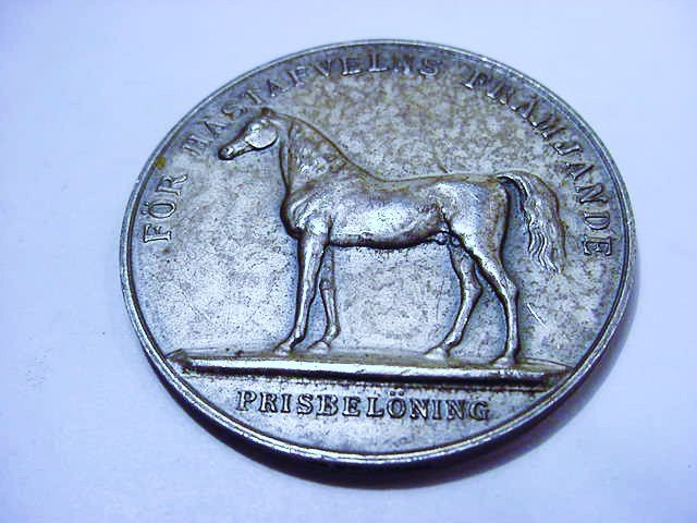 SWEDEN SILVER THOROUGHBRED HORSE MEDAL