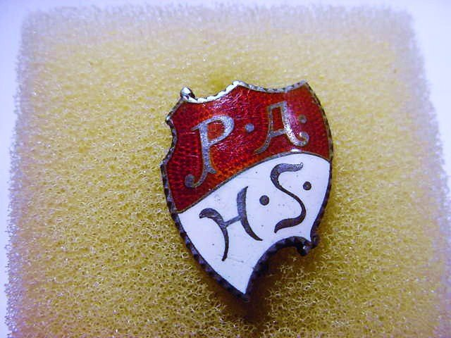 P.A. HIGH SCHOOL STERLING ENAMEL PIN