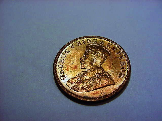 1936 INDIA 1/4 ANNA GEM B.U.