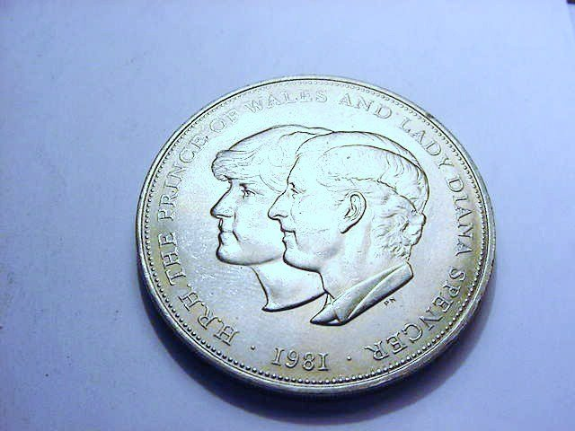 1981 PRINCE CHARLES LADY DIANA WEDDING CROWN UNC