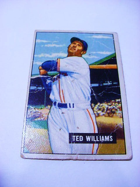 1951 BOWMAN # 165 TED WILLIAMS BASEBALL CARD
