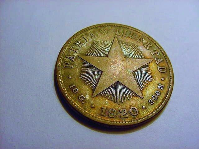 1920 CUBA 40 CENTAVOS