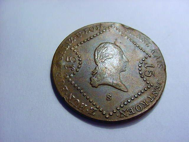 1807 AUSTRIA 15 KREUZER