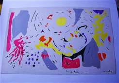 1949 ROBERTO MATTA SUN DICE SILKSCREEN ON CANVAS