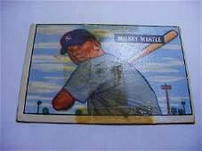 1951 BOWMAN # 253 MICKEY MANTLE ROOKIE BASEBALL CARD