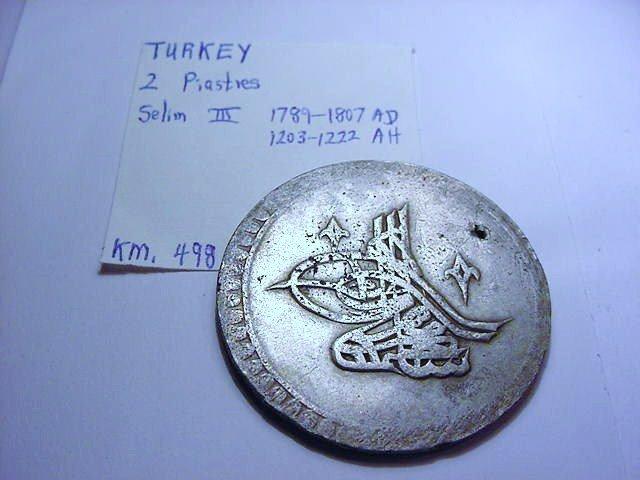1789-1807 TURKEY SELIM III 2 PIASTRES