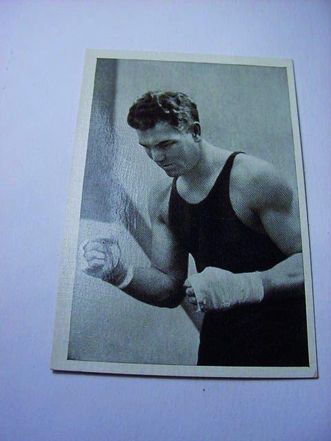 1933 TRUMPF CHOCOLATE JACK DEMPSEY CARD