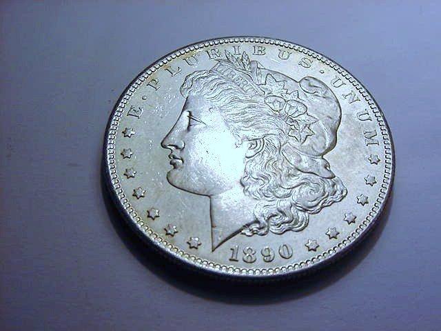 1890-S MORGAN DOLLAR GEM B.U.