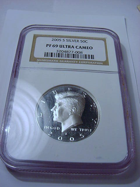 2005-S SILVER KENNEDY HALF NGC CERTIFIED PF 69 ULTRA