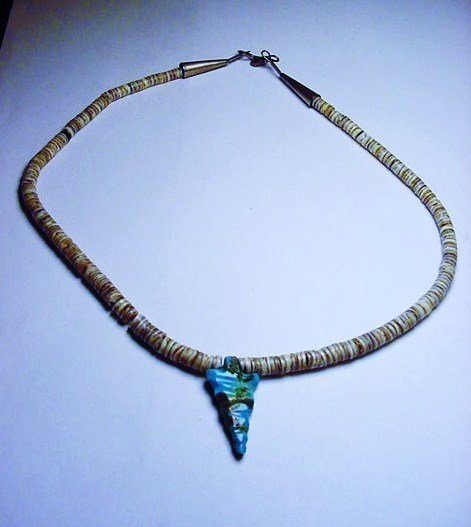 NAVAJO TURQUOISE SHELL NECKLACE