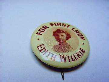 1940 WILLKIE CAMPAIGN BUTTON