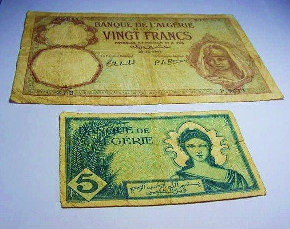 [2] 1940'S ALGERIA BANKNOTES