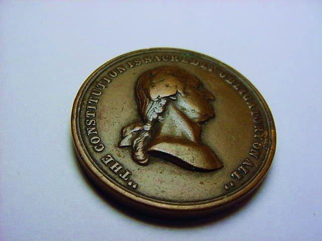 1861 WASHINGTON U.S. MINT MEDAL