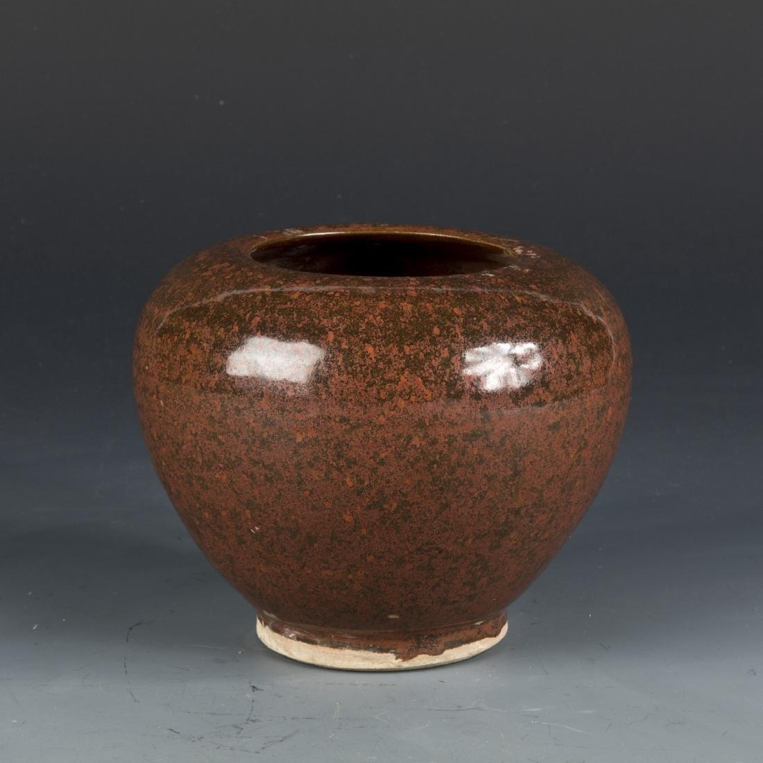 EEL-YELLOW-GLAZED PORCELAIN JAR