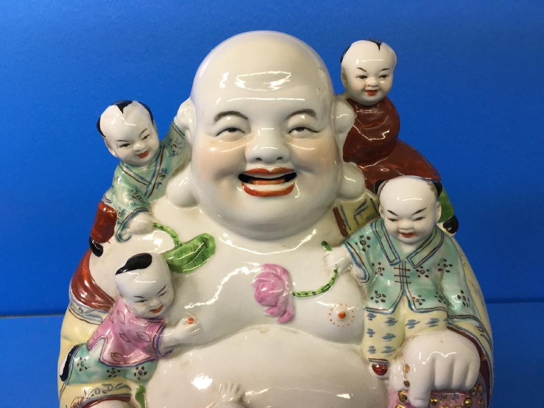 A FAMILY ROSE PORCELAIN YOUNG MAITREYA BUDDHA - 2