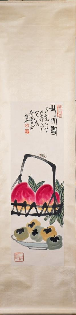 A CHINESE SCROLL PAINTING, AFTER QI BAISHI - 2