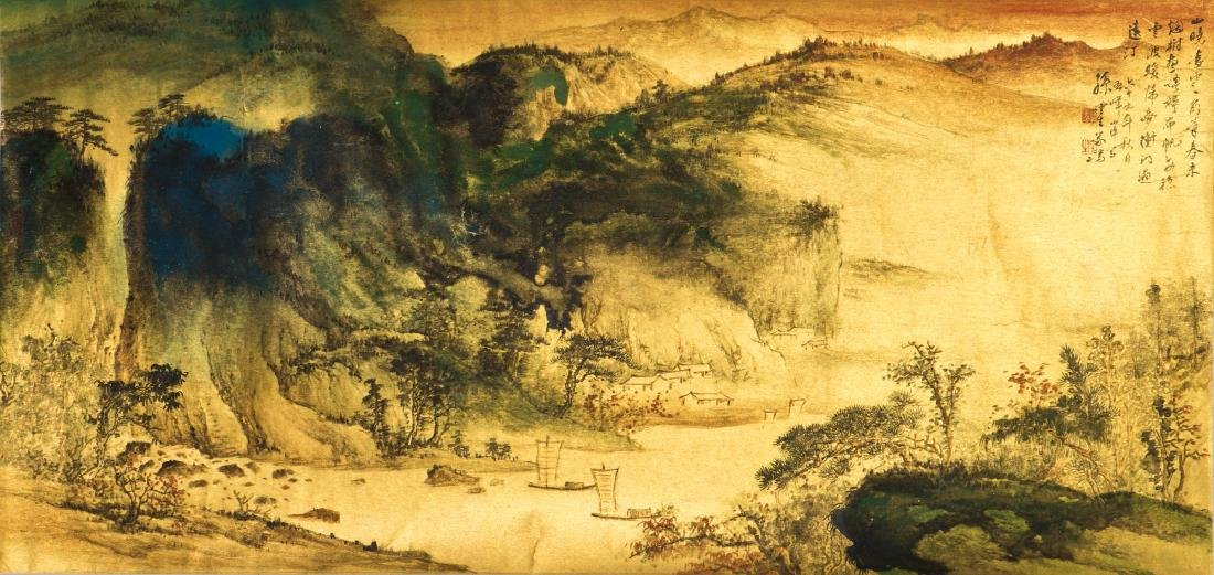 A CHINESE PAINTING OF LANDSCAPE, AFTER SUN YUNSHENG