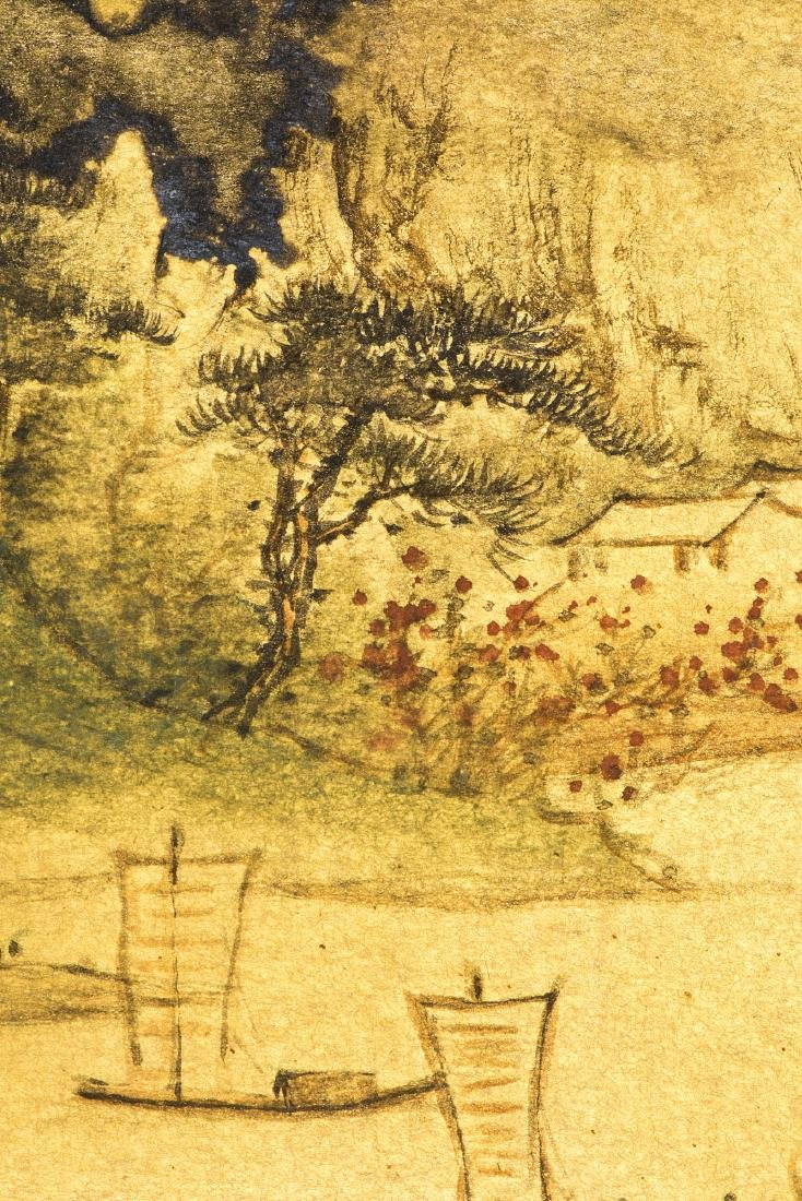A CHINESE PAINTING OF LANDSCAPE, AFTER SUN YUNSHENG - 4