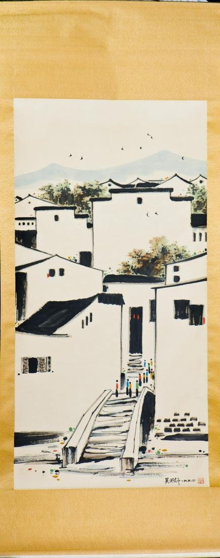 A CHINESE PAITING OF JIANGNAN MOTIF, AFTER WU GUANZHONG - 2