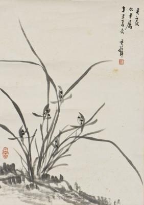 A CHINESE PAINTING OF FLORAL MOTIF, AFTER HUANG JUNBI