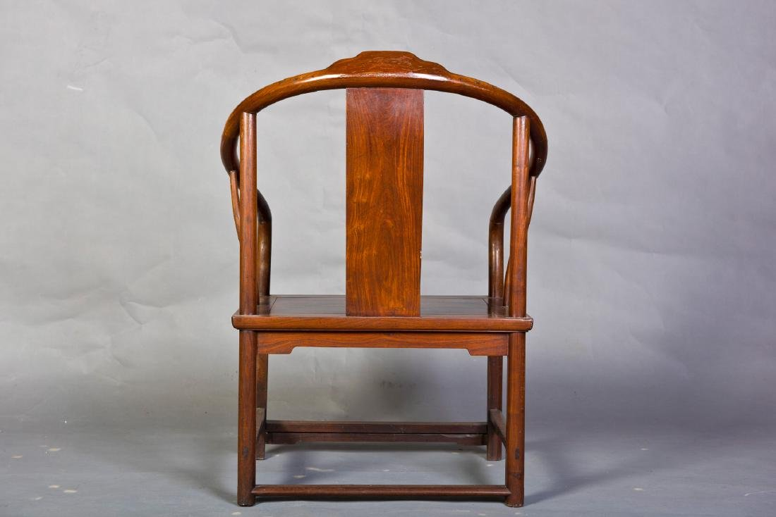 A PAIR OF CHINESE HUANGHUALI OR HARDWOOD CHAIRS - 3