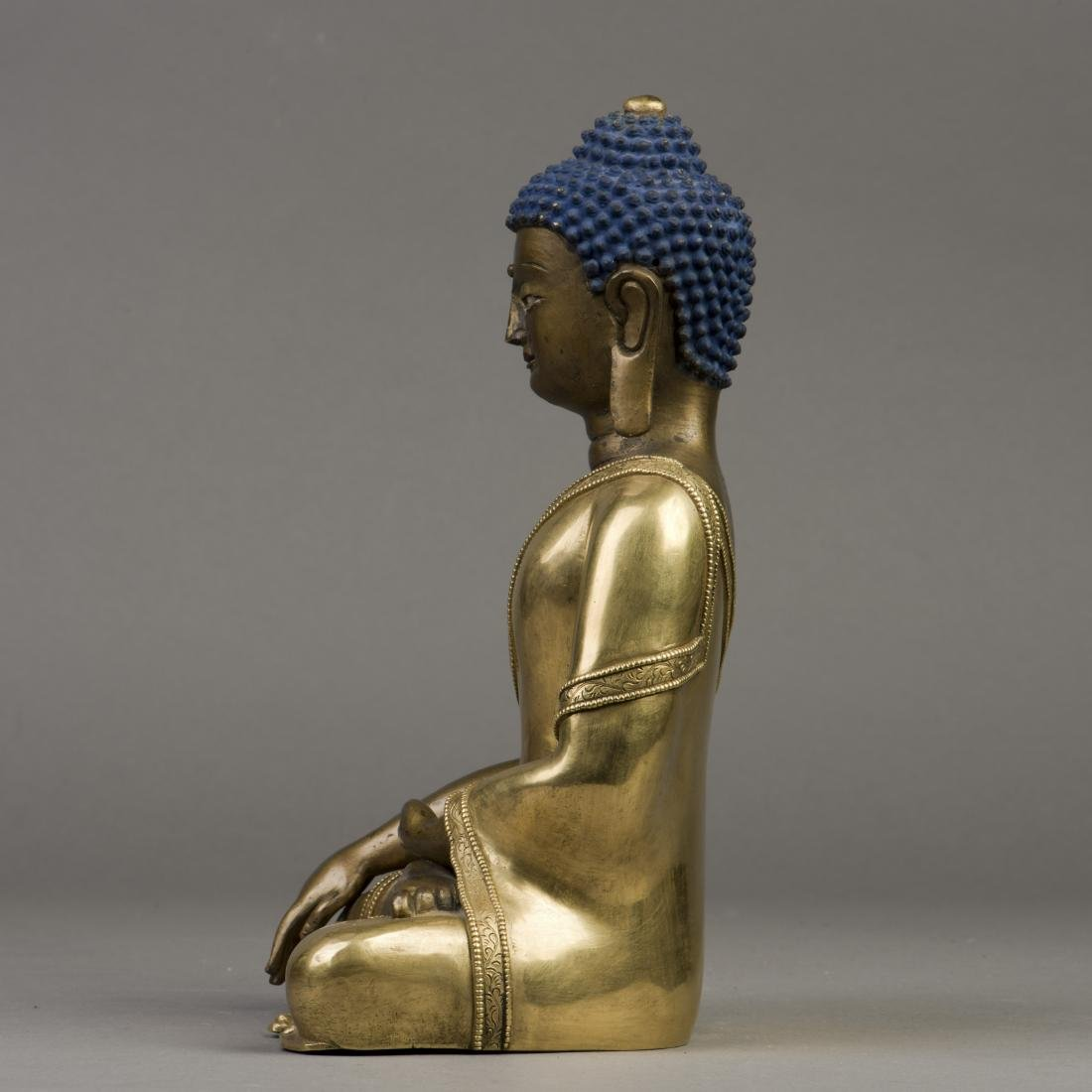 A GILT BRONZE SCULPTURE OF LONGEVITY BUDDHA - 2