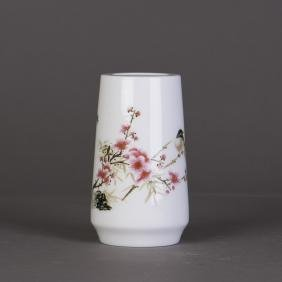 A CHINESE PORCELAIN PLUM VASE