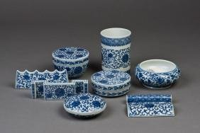 8 PIECES OF A PORCELAIN STUDY SET