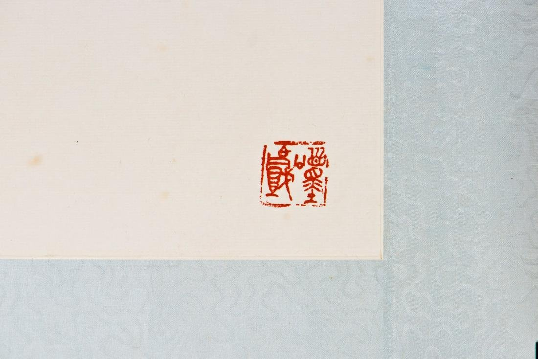 A CHINESE SCROLL PAINTING OF PLUM MOTIF - 2